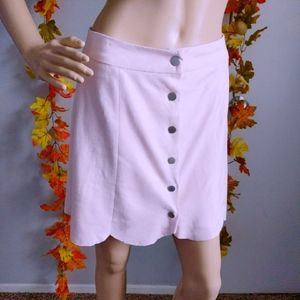 NWT LOVERS+FRIENDS FAUX SUEDE SKIRT PINK